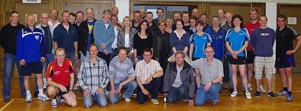 Gruppenfoto der Tischtennisabteilung