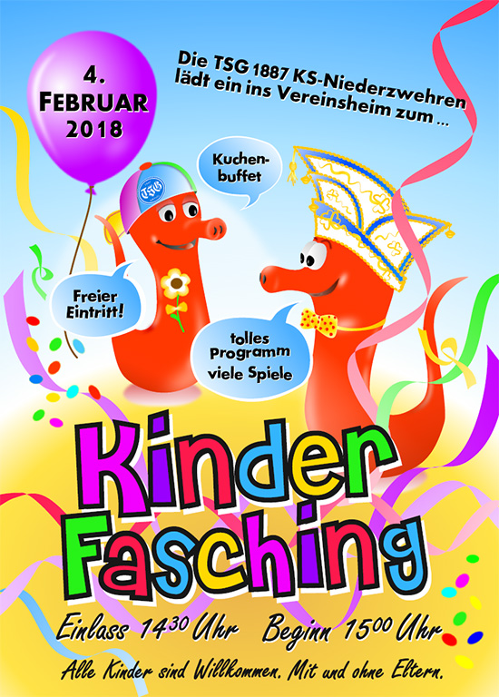 Flyer Kinderfasching 2018