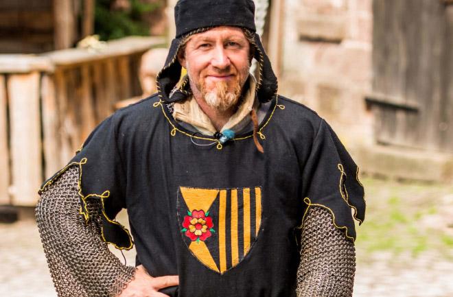 Foto: Ritter Isenbard, Schauspieler und Autor Daniel von Trausnitz