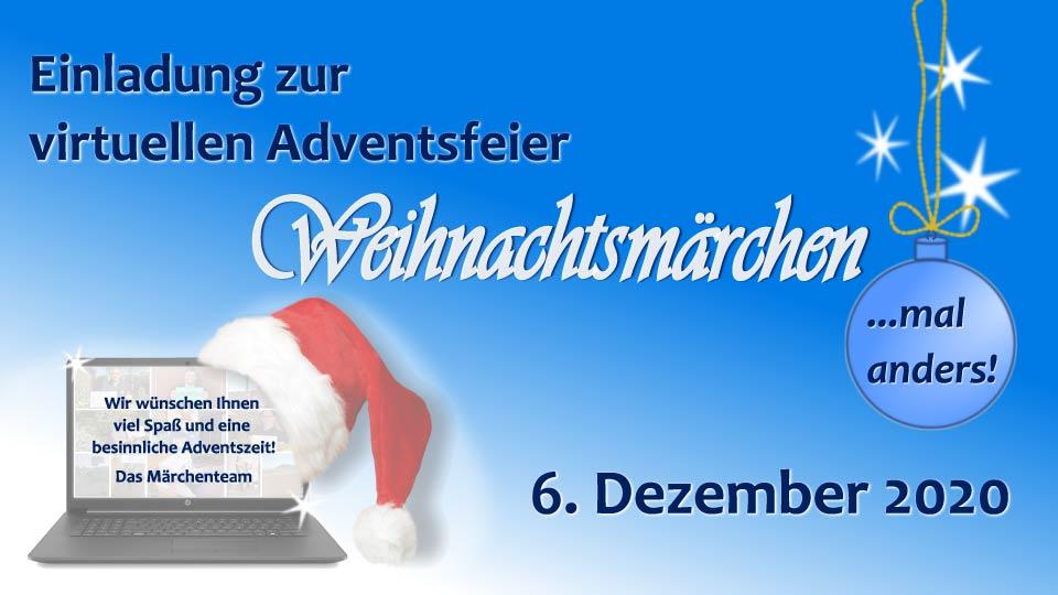 Banner digitale Adventsfeier