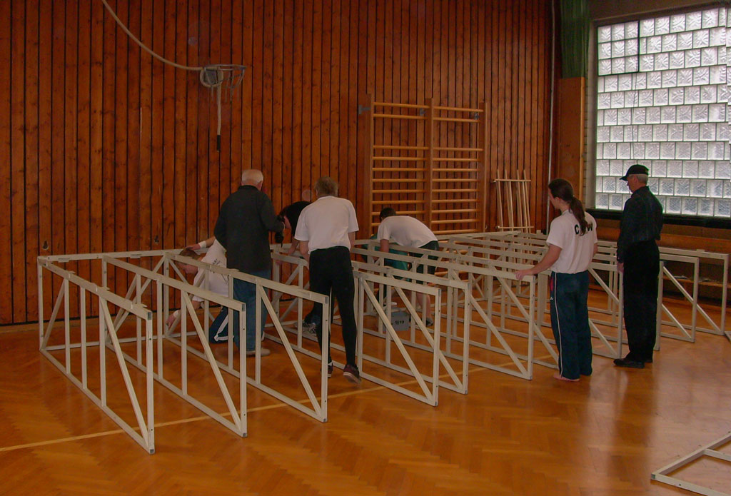 Weihnachtsmärchen Bühnenaufbau 2007 Bild 1