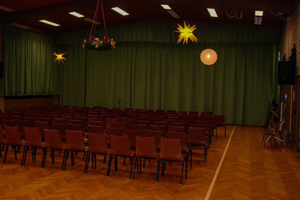 Weihnachtsmärchen Bühnenaufbau 2007 Bild 4
